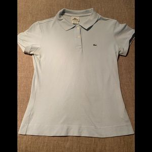 Lacoste fitted light blue polo shirt